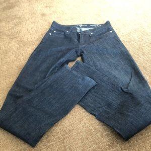 Women's Black 7 Jeans Straight Leg
